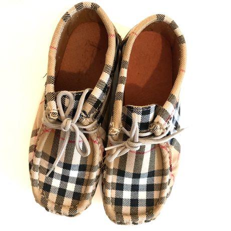 Sapato novo de criança estilo Burberry Tam.30