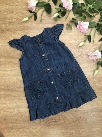 Джинсовое платье, рубашка 3-5 лет