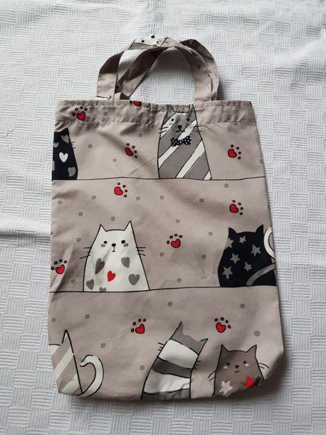 Torba na zakupy z kotami