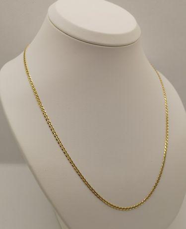 Piękny złoty łańcuszek, splot Gucci. Nowy, złoto 14k/585. 50,5cm