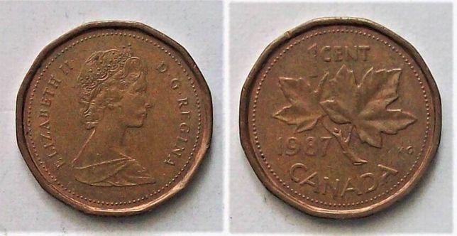 Kanada 1 cent rok 1987