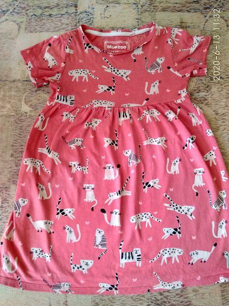 Платье туника Bluezoo  Котики 110 размер