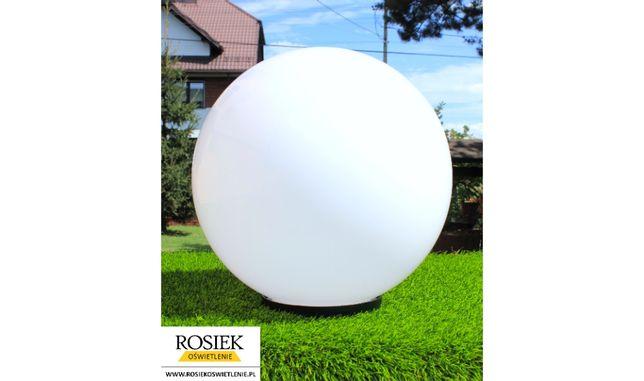 Kula lampa ogrodowa biała 40cm / kule ogrodowe - pomysł na prezent