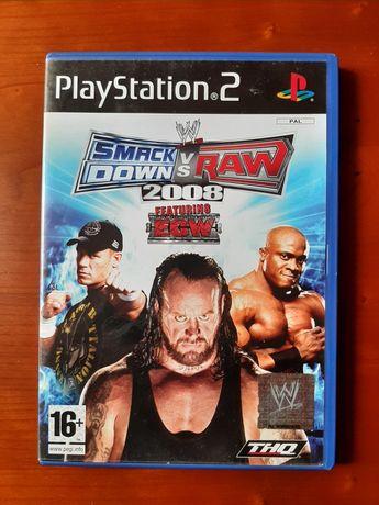 Jogo WWE Smackdown vs Raw 2008 Featuring ECW playstation 2