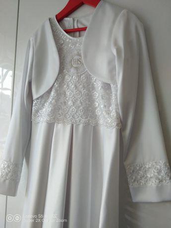 Alba, sukienka komunijna, bolerko, halka, + 2 sukienki