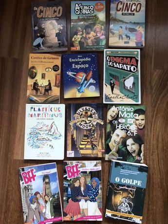 Livros novos lidos uma vez. Ofereço os portes em correio de livros.