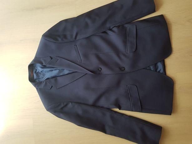Granatowy garnitur SLIM