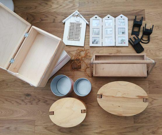 Różności decoupage / pudełka drewniane / ramki na zdjęcia / pojemniki