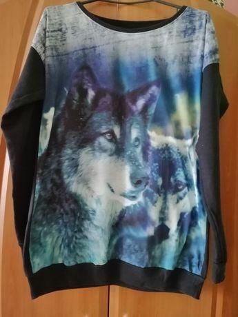Bluza damska z motywem wilka
