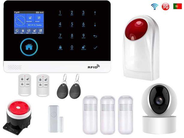 Alarme Loja sem Fios + Camera+Sirene GSM/3G/WiFi Android/iOS PT (NOVO)