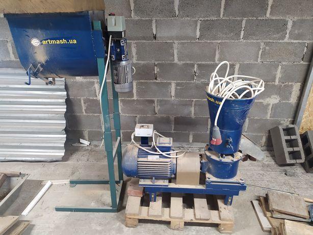 Гранулятор пелет та кормів7,5 кВт із шнеком 35л. артмаш