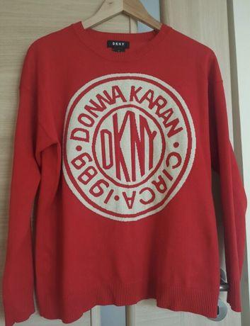 Oryginalny sweter sweterek DKNY Donna Karen czerwony M
