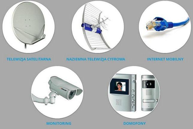 Domofony Kamery Monitoring CCTV Alarmy Videodomofony montaż serwis