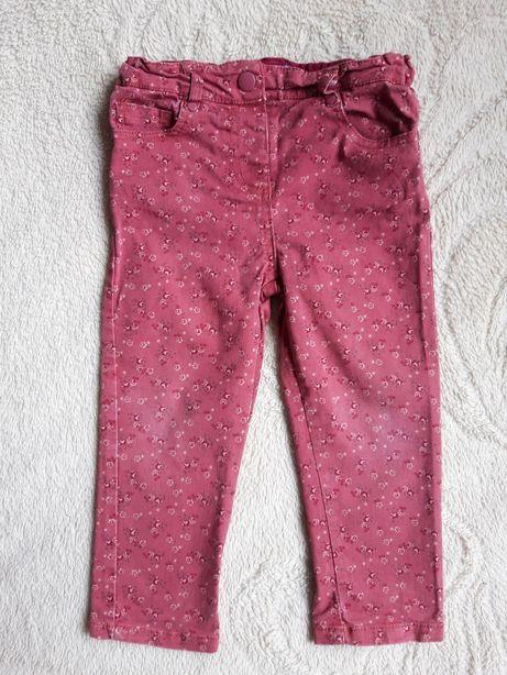 Штаны джинсы F&F на девочку 92-98 см 2-3 г розовые