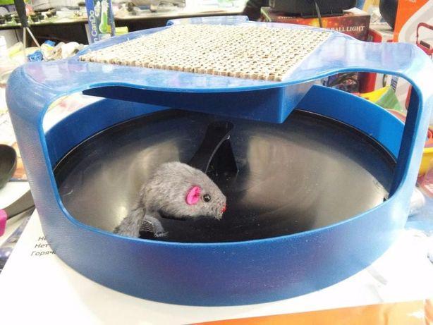Игрушка, когтеточка для кошек Поймай мышку OxGord Cat Mouse Chase