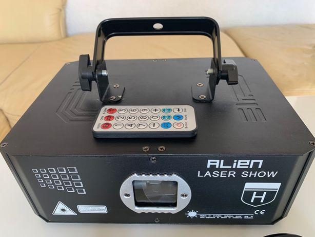 ALIEN 500mW RGB DMX laser animacyjny, efekt 3D, 10w1, 100 efektów show