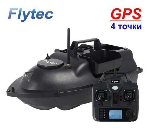 Кораблик для рыбалки FLYTEC с GPS V010 прикормочный карповый Оригинал