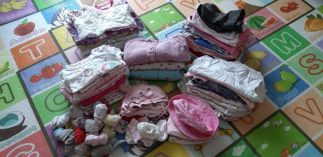 Wyprawka letnia,  paczka ubranek dla dziewczynki 56, 62, 68. H&M, Zara