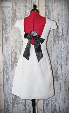 Sukienka NOWA złamana biel r. XS/S