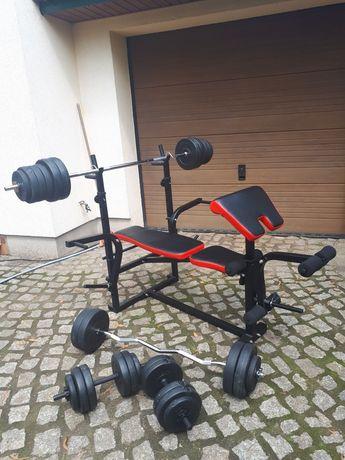 Siłownia domowa 85kg obciążenia zestaw do ćwiczeń