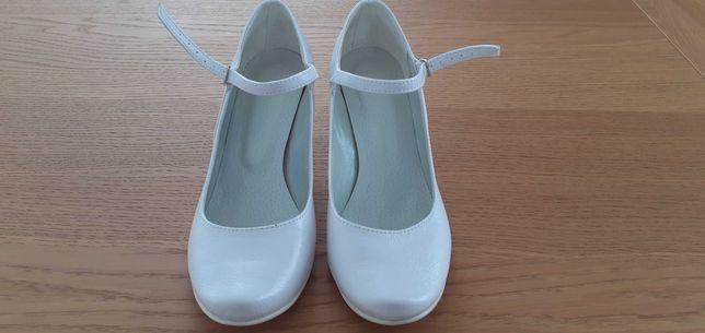 Buty czółenka białe