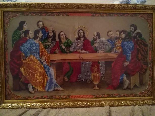Ікона Тайна вечеря чеським бісером