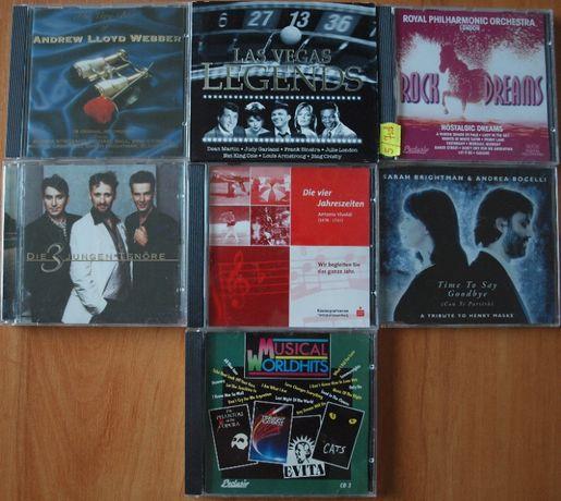 Zestaw płytCD,płyty z muzyką,kolekcja CD.Musical,Tenor,Vivaldi,Bocelli