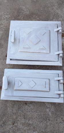 Przedwojenne drzwiczki paleniskowe do pieca kaflowego
