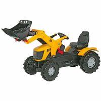 nowy ciągnik Traktor na pedały JCB z Łyżką Ciche Koła 3-8 lat