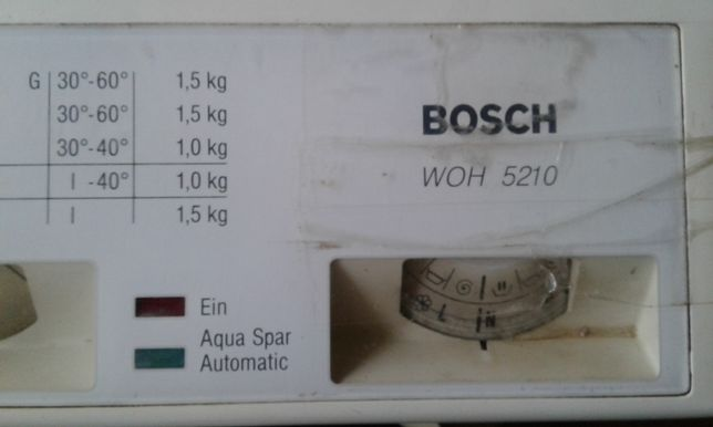 Пральна машинка BOSCH WON 5210