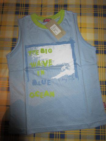 T-shirt de criança azul NICO The Big Wave in Blue Ocean 4 anos NOVO