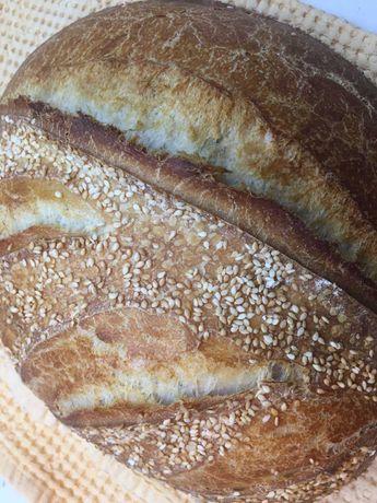 Хлеб домашний подовый а также лаваш на закваске