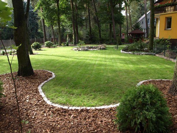 Usługi ogrodnicze zakładanie trawnika trawa z rolki siewu trawnik