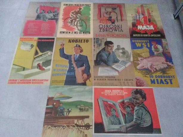 Plakaty propagandowe z PRL-u (10 szt.) - faksymile - wymiar 40x54 cm