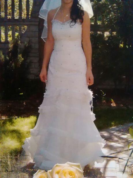 Suknia ślubna XS/S ecru sprzedam lub zamienię.