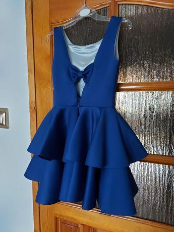 Granatowa sukienka rozmiar 36 PROMOCJA