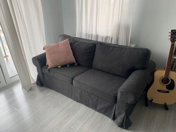 EVERTSBERG Sofa 2-osobowa rozkładana stan b. dobry! + MATERAC