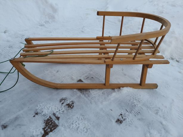 Sanki drewniane z oparciem REZERWACJA