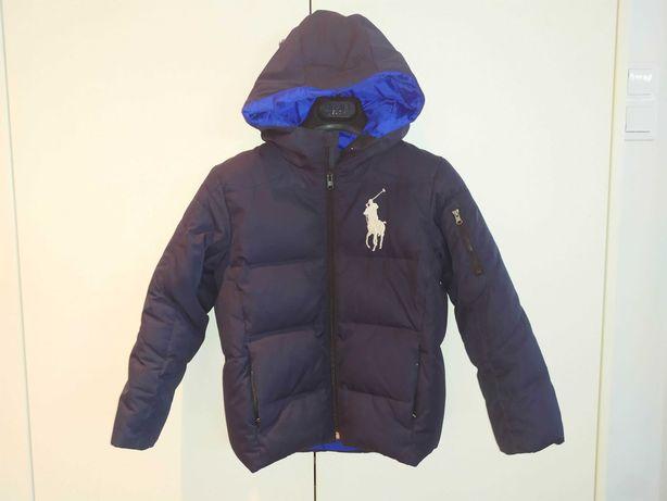 Ralph Lauren lat 7 kurtka dziecieca puchowa zimowa chłopięca 128