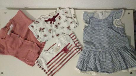 Conjunto 4 peças 6/9 meses Zara