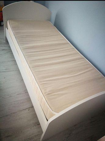 Łóżko białe  z materacem 160x80