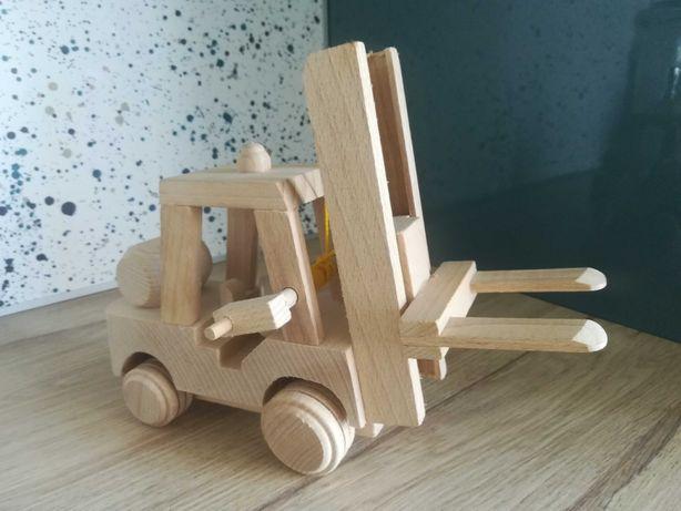 Drewniany wózek widłowy dla dzieci (28x20cm)