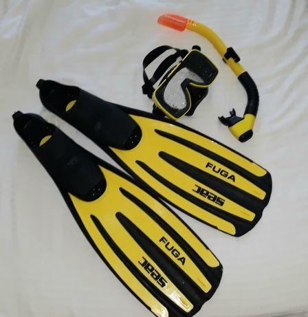 Продам маску Tusa X-pert c трубкой Tusa Imprex + ласты SEAC Fuga