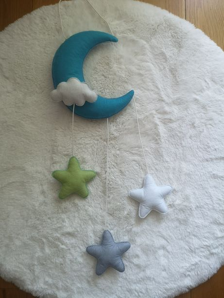 Girlanda pluszowa księżyc gwiazdki zawieszka nad łóżeczko promocja