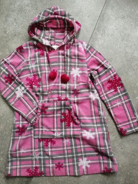 Piżama szlafroczek z kapturem kieszenia