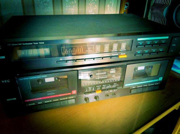 UNIKAT Zestaw NEC piękny odtwarzacz kaset tuner radio diora unitra