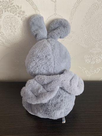 Мягкая игрушка зайка ангел сервй заяц зайчик