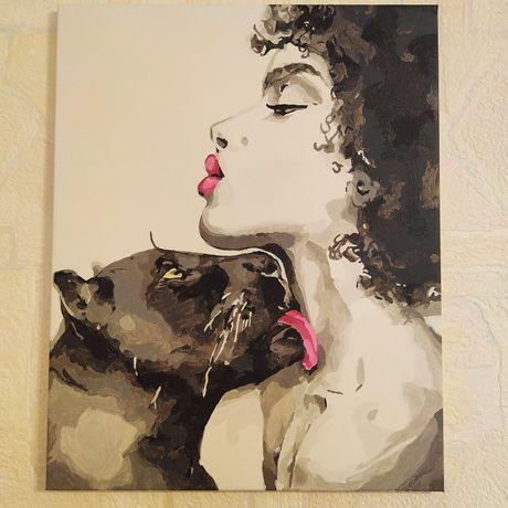 "Картина ""Поцелуй пантеры"". Акрил"