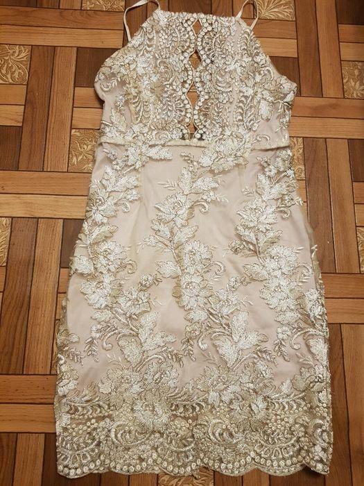 Коктейльное платье с вышивкой и бисером открытая спина Корсунцы - изображение 1