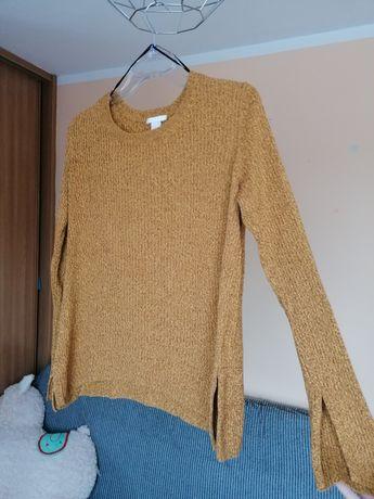 Żółty musztardowy sweter H&M M 38